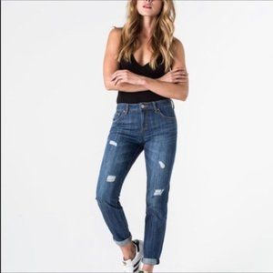 RSQ Chelsea girlfriend hi-rise distressed jeans 3